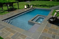 Flagstone Pool with Spa