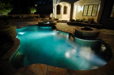 Natural Pool & Spa with Lighting